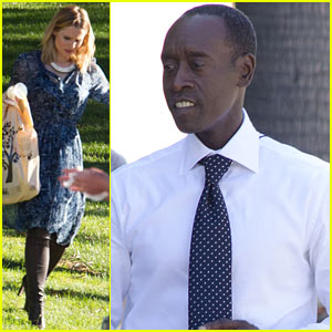 Kristen Bell Films 'House of Lies' Alongside Don Cheadle