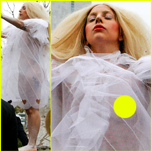 Lady Gaga Covers Naked Body with Sheer Cover Up in Berlin