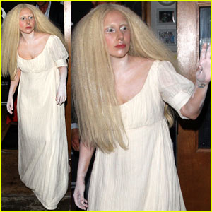 Lady Gaga Dons White Powder All Over Her Body in London