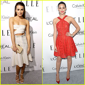 Lea Michele & Emmy Rossum: 'Elle' Women in Hollywood Celebration!