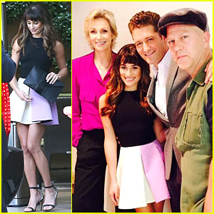 Lea Michele: 'Glee' HFPA Panel with Matthew Morrison!