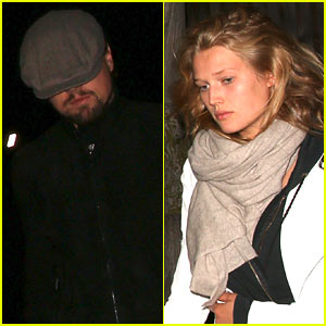 Leonardo DiCaprio Dines Out with Girlfriend Toni Garrn