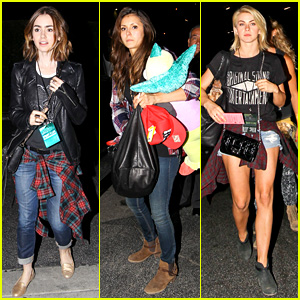 Lily Collins, Nina Dobrev, & Julianne Hough: Girls Night Out!