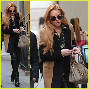 Lindsay Lohan: NYC Dinner with Younger Brother Michael!