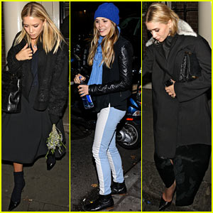 Mary-Kate & Ashley Olsen Party in London, Elizabeth Olsen Steps Out in NYC