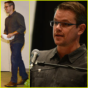 Matt Damon: Education on the Edge Lecture Series Speaker!