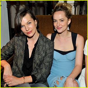Milla Jovovich & Dakota Johnson: CFDA & Vogue Fashion Fund 2013