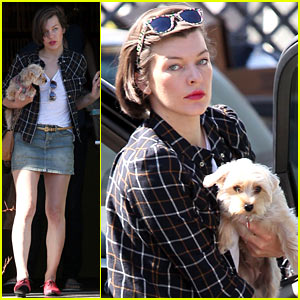 Milla Jovovich is a Proud Mom After Ever's Tae Kwon Do Event!