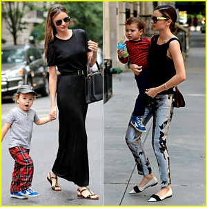 Miranda Kerr Hangs with Flynn After Swarovski News!