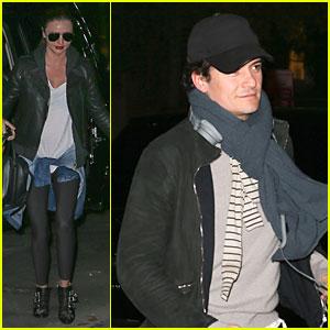 Miranda Kerr & Orlando Bloom Enter Same Apartment After Separation