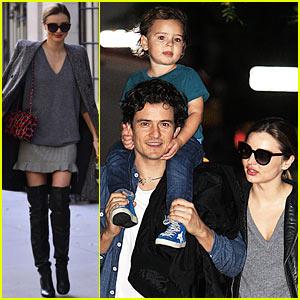 Miranda Kerr, Orlando Bloom, & Flynn: Family Fun Evening!