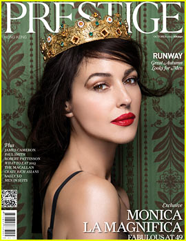 Monica Bellucci Covers 'Prestige Hong Kong' October 2013