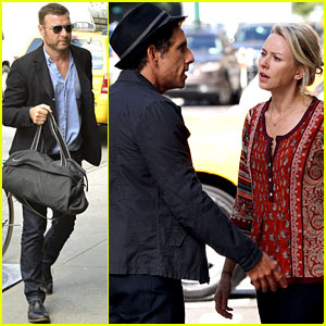 Naomi Watts Films While Liev Shreiber Takes Care of Business