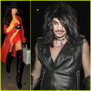 Naya Rivera & Adam Lambert Hit Up Some Halloween Parties!