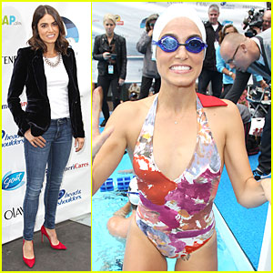 Nikki Reed Swims for Diana Nyad's Swim for Relief!