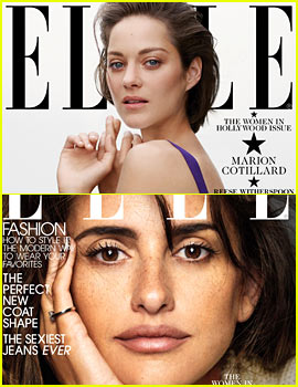 Penelope Cruz & Marion Cotillard Covers Elle's Women in Hollywood Issue