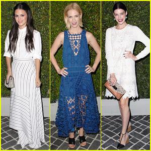 Rachel Bilson & January Jones: Chloe Fashion Show & Dinner!