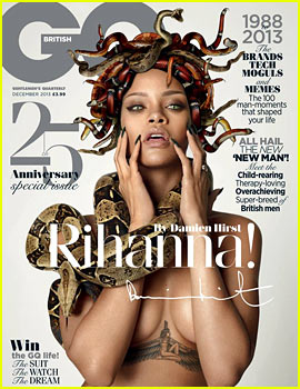 Rihanna: Topless Medusa for 'British GQ' 25th Anniversary Issue!