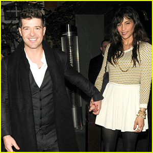 Robin Thicke: London Night Out with Paula Patton!