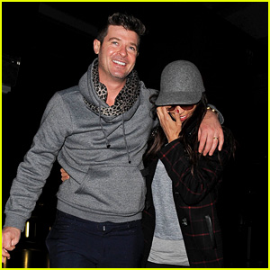 Robin Thicke & Paula Patton Leave London via Heathrow