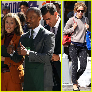 Rose Byrne & Bobby Cannavale: 'Annie' Set with Jamie Foxx!