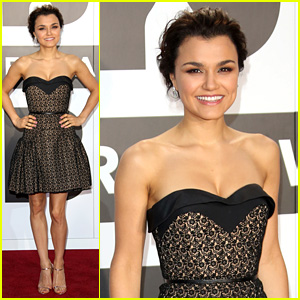 Samantha Barks Celebrates Birthday at Classic Brit Awards!