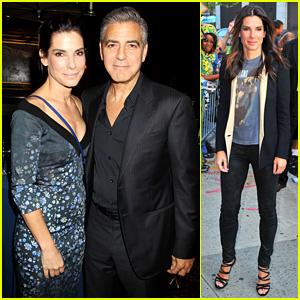 Sandra Bullock & George Clooney: 'Gravity' NYC Luncheon!
