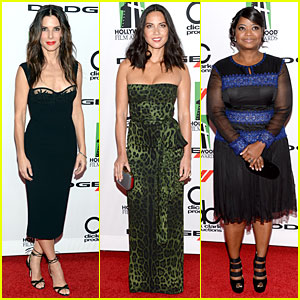 Sandra Bullock & Olivia Munn: Hollywood Film Awards 2013