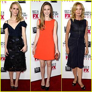 Sarah Paulson & Jessica Lange: 'American Horror Story: Coven' Premiere!