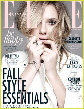 Scarlett Johansson Covers 'Elle Canada' November 2013