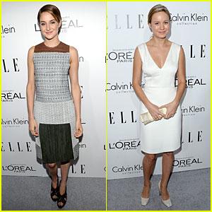 Shailene Woodley & Brie Larson: 'Elle' Women in Hollywood Celebration!