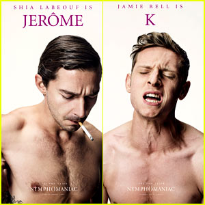 Shia LaBeouf & Jamie Bell: Shirtless 'Nymphomaniac' Posters!