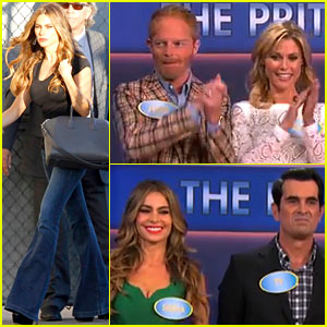 Sofia Vergara & 'Modern Family' Cast Play 'Family Feud' on 'Kimmel'!