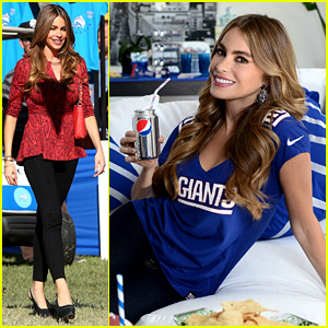 Sofia Vergara Parties it Up with 'Modern Family' & Diet Pepsi!