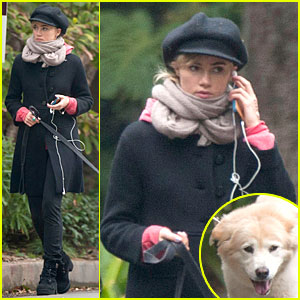 Suki Waterhouse Walks Bradley Cooper's Dog Charlotte!