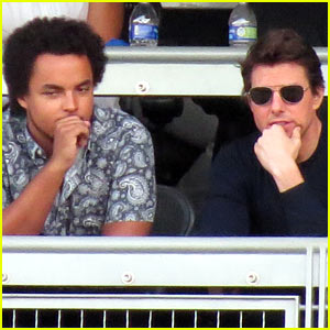 Tom Cruise Treats Son Connor to Dodgers Playoff Game!