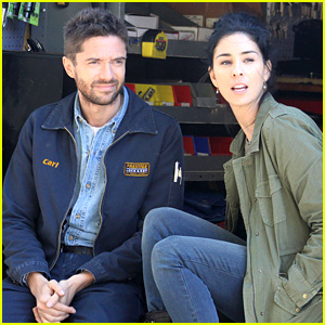 Topher Grace & Sarah Silverman: 'People in New Jersey' Set!