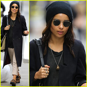 Zoe Kravitz Steps Out After Michael Fassbender Run-In