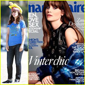 Zooey Deschanel Covers 'Marie Claire UK' November 2013
