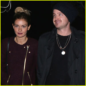 Aaron Paul & Lauren Parsekian Embark on Hollywood Date Night!