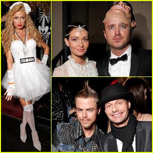 Aaron Paul & Paris Hilton: 'Treats!' Magazine Halloween Party!