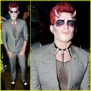 Adam Lambert Hosts Halloween Party, Dresses as Ghoulish Devil!