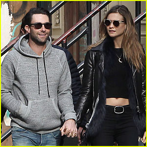 Adam Levine & Behati Prinsloo Hold Hands for Apartment Hunting