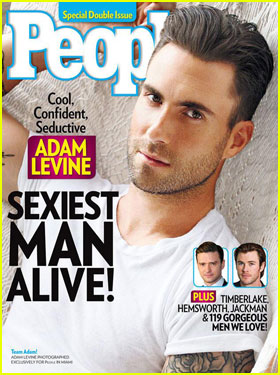 Adam Levine: People's Sexiest Man Alive 2013!