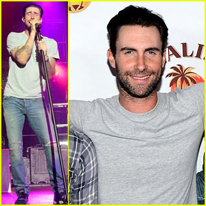 Adam Levine Spices Up the Maroon 5 & Malibu Island Concert!