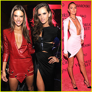 Alessandra Ambrosio & Candice Swanepoel - Victoria's Secret Fashion Show After  Party 2013