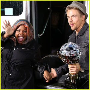 Amber Riley Celebrates 'Dancing with the Stars' Win on 'GMA'!