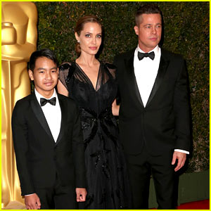 Angelina Jolie & Brad Pitt: Governors Awards 2013 with Maddox!