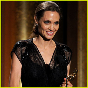 Angelina Jolie Accepts Jean Hersholt Humanitarian Award (Video)