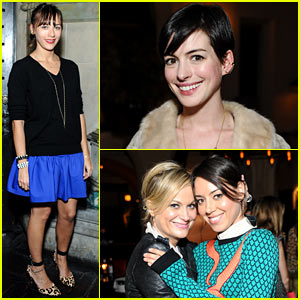 Rashida Jones & Anne Hathaway: Fine by Dannijones Collection Dinner!